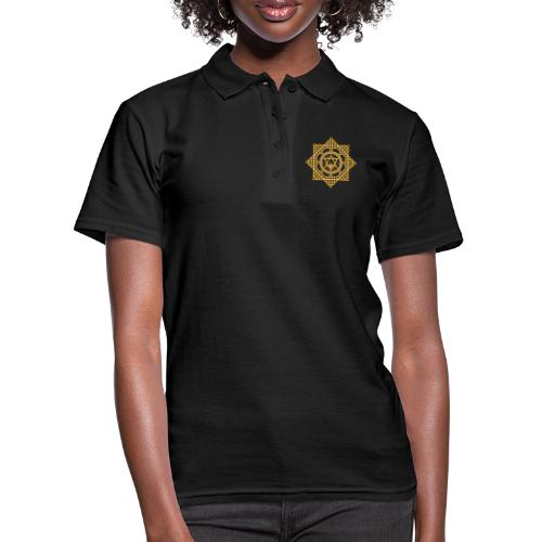 Hexagram ZEUS Mandala 1970 YinYang. 5. Dimension - Frauen Polo Shirt
