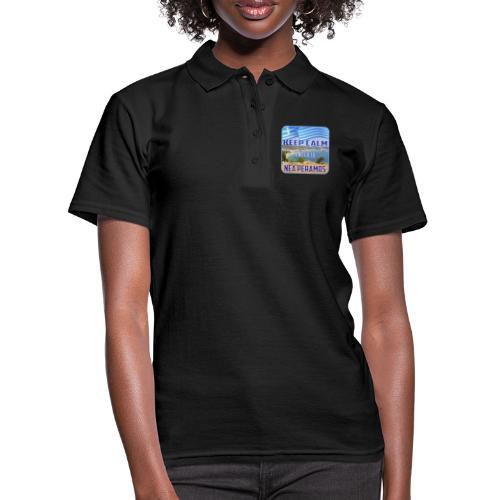 KEEP CALM and go to NEA PERAMOS / Greece - Frauen Polo Shirt