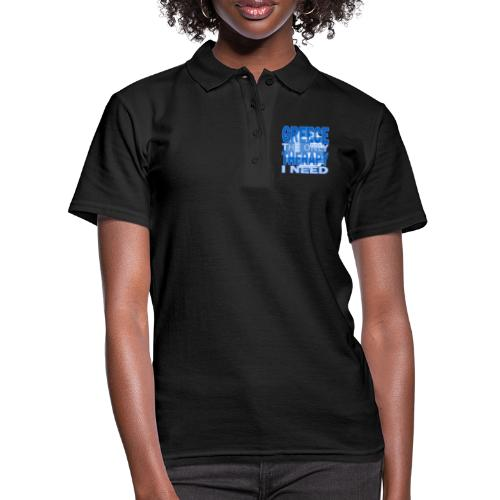 GREECE the only therapy i need - Thassos / Thasos - Frauen Polo Shirt