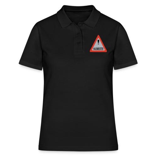 achtung vorsicht hausmeister - Frauen Polo Shirt