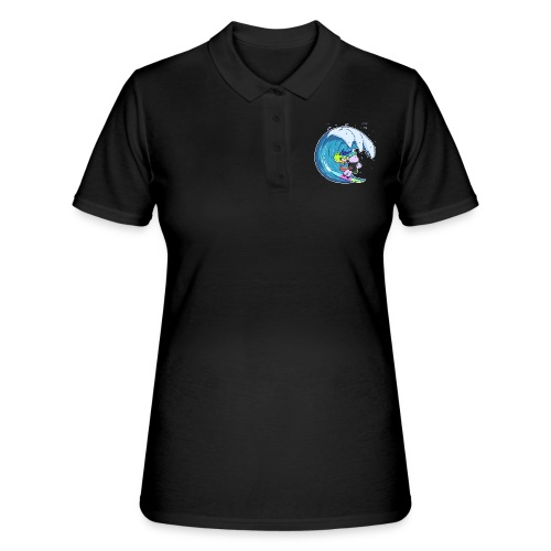 Surfing Unicorn - Women's Polo Shirt