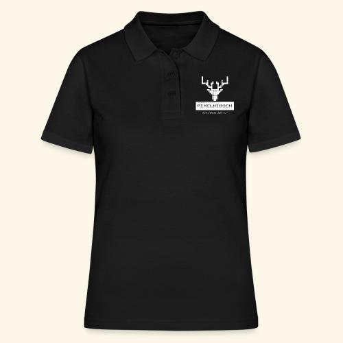 PIXELHIRSCH - high contrast - Frauen Polo Shirt