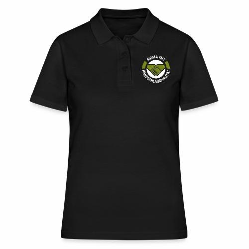 Handschlagqualität Logo weiss - Frauen Polo Shirt