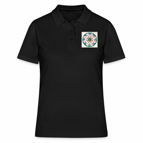mandala rosa - Camiseta polo mujer