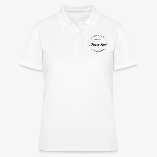 hoamatlaund mit bissl an text - Frauen Polo Shirt