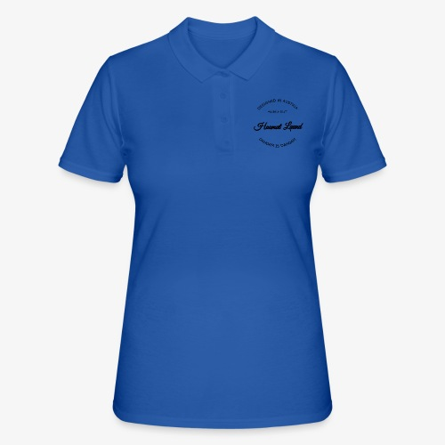 hoamatlaund mit bissl an text - Frauen Polo Shirt