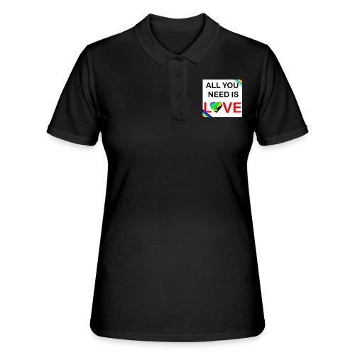 all you need is peace and love - Women's Polo Shirt