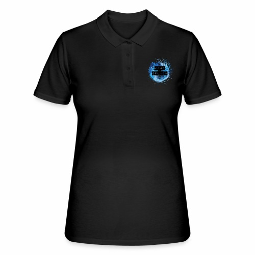 Make a Splash - Aquarell Design in Blau - Frauen Polo Shirt