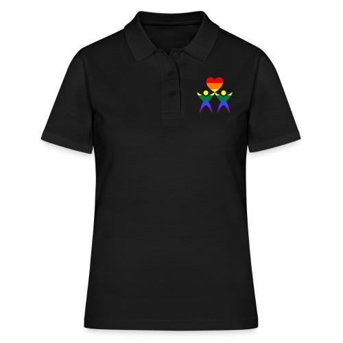 Zwei Männer Herz - Frauen Polo Shirt