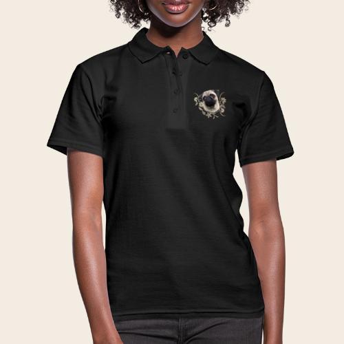 Mops Portrait - Frauen Polo Shirt