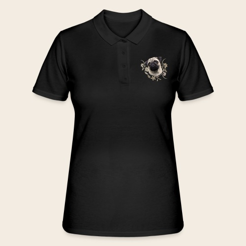 Mops Portrait - Frauen Polo Shirt