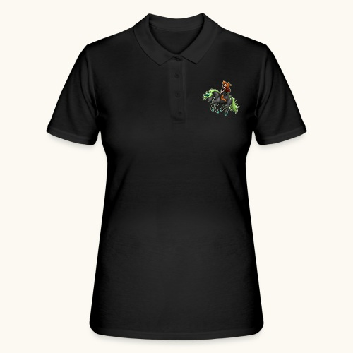 Monter une sorcière sexy sur une licorne. - Women's Polo Shirt