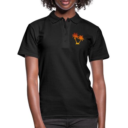 Palm Boom Zonsondergang - Vrouwen poloshirt