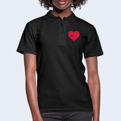 Winky Heart - Women's Polo Shirt