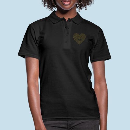 Katzen Spirale Linie - Frauen Polo Shirt