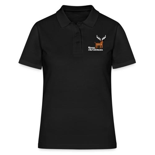 Christmas Xmas Deer Pixel Funny - Women's Polo Shirt