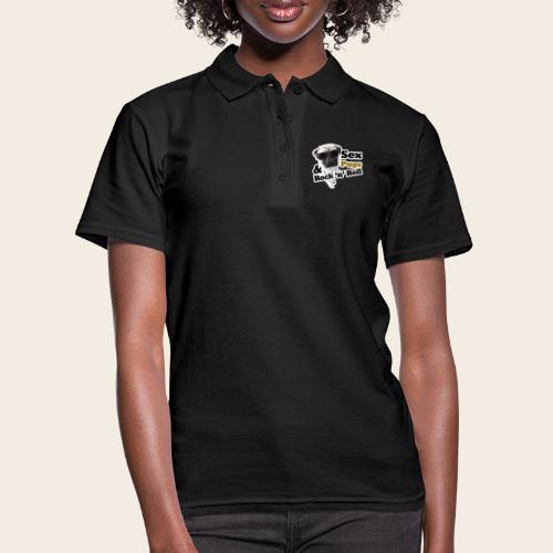 sex pugs rock n roll - Frauen Polo Shirt