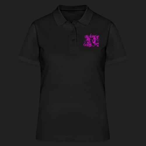 CURLING PURPLE.png - Women's Polo Shirt