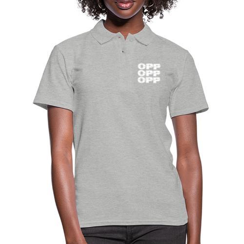 OPP Logo White - Naisten pikeepaita