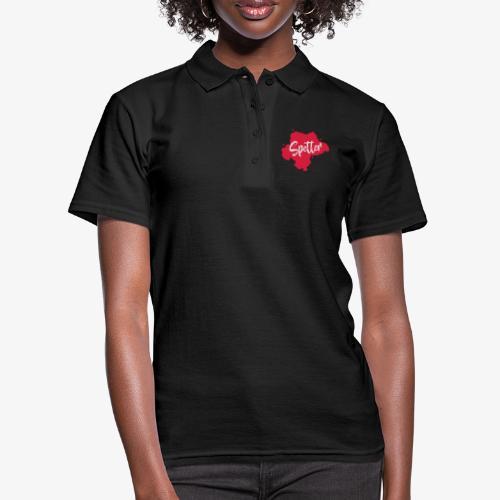 Design spetter rood - Vrouwen poloshirt