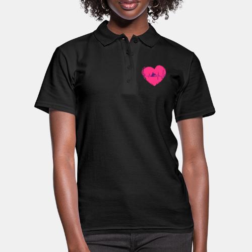 Herz Heartbeat Slider Reining Herzschlag - Frauen Polo Shirt