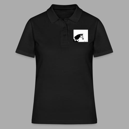 Pferdekopf mit Unterschrift - Frauen Polo Shirt