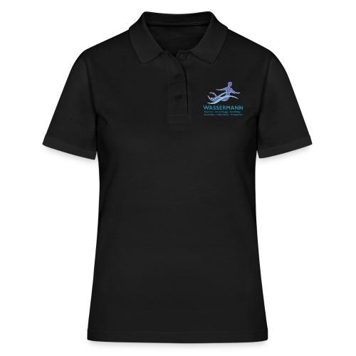 Wassermann 3 farbig Konturen weissDunkel - Frauen Polo Shirt