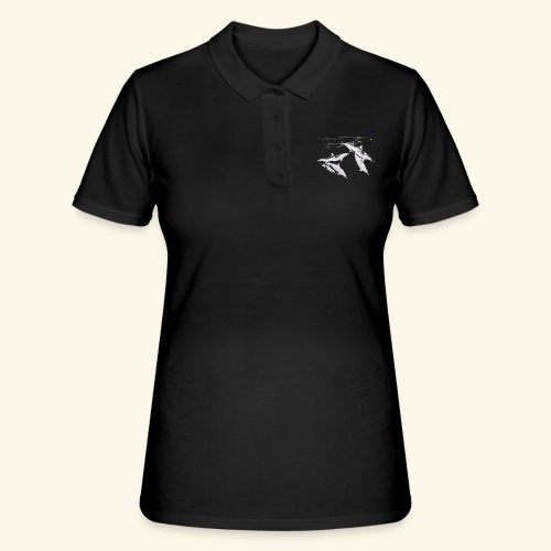 5 Gray dolphins - Women's Polo Shirt