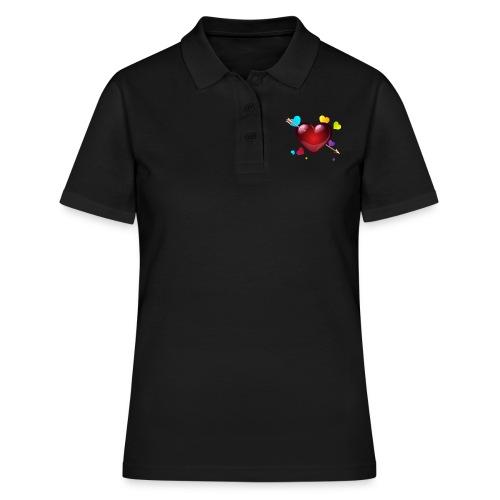 coeurs coloré - Women's Polo Shirt
