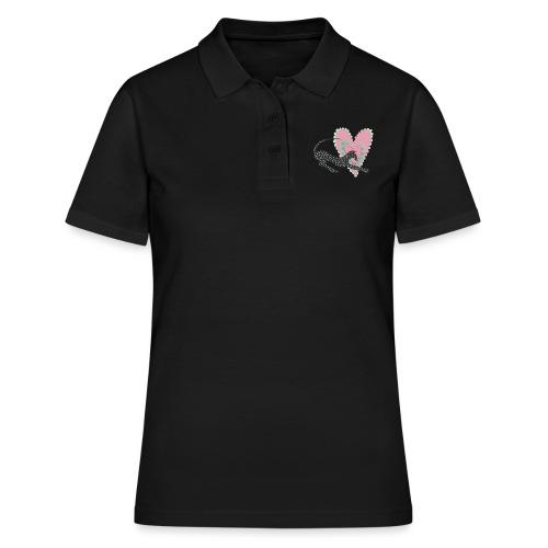 Rosa prickar hjärta - Women's Polo Shirt