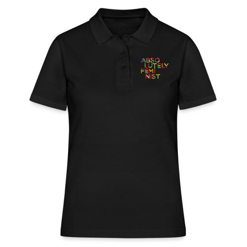 Absolutely rainbow typo - Frauen Polo Shirt