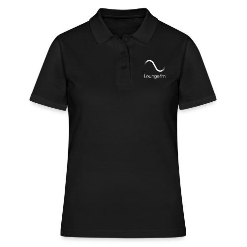 loungefm logo weiss - Frauen Polo Shirt