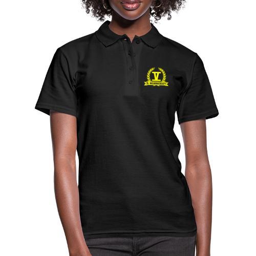 V mit College-Schriftzug - Gelb - Frauen Polo Shirt