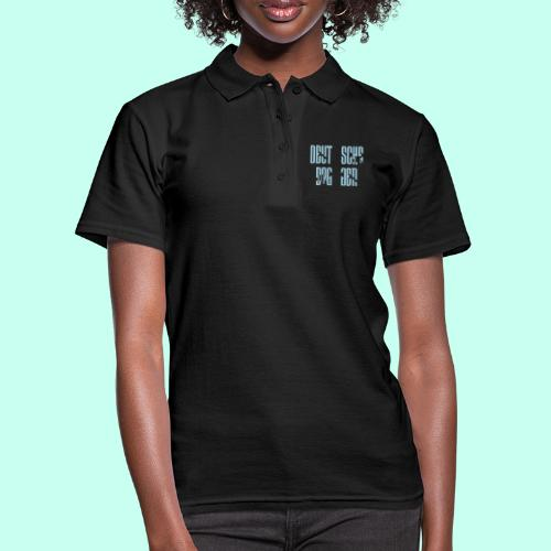 Jackenmotiv Doggenschrif - Frauen Polo Shirt