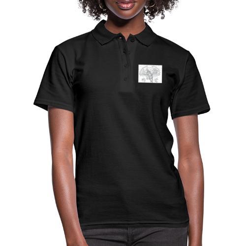 Skrimshaw Whale - Women's Polo Shirt