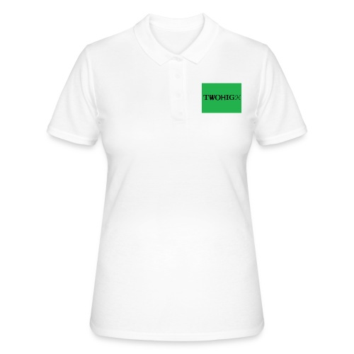 solid green background - Women's Polo Shirt