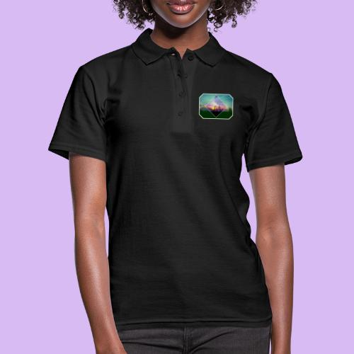Tramonto in risalto tra figure geometriche - Women's Polo Shirt