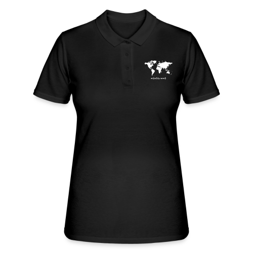 adventure awaits - Weltkarte - Frauen Polo Shirt
