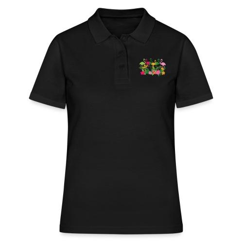 AL Flowers & Flamingos - Frauen Polo Shirt