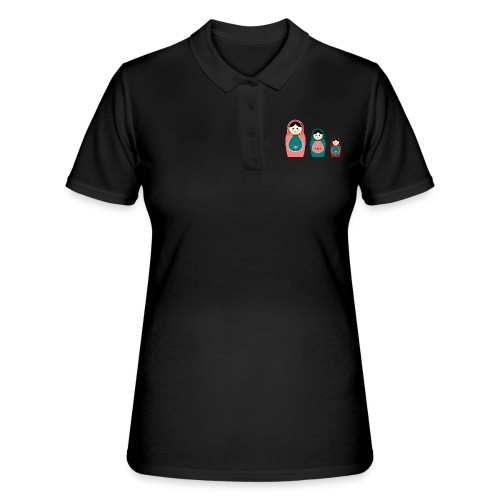 Matroschka trio birth Geburt Geburtstag birthday - Frauen Polo Shirt