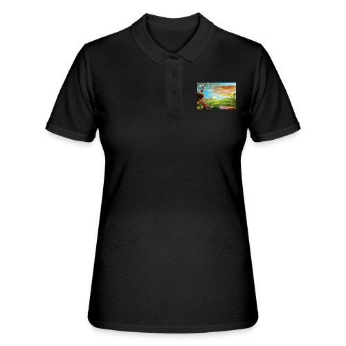 bob ross - Frauen Polo Shirt