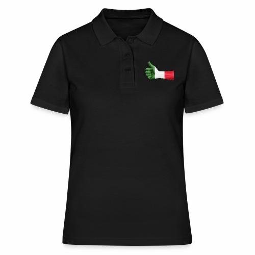 Italienische Flagge auf Daum - Frauen Polo Shirt