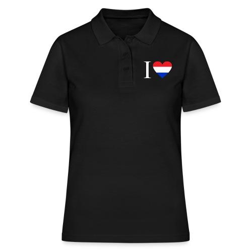 Ik hou van Nederland | Hart met rood wit blauw - Vrouwen poloshirt
