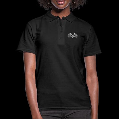 flügelpentagrammitstrukturhellgrau.png - Frauen Polo Shirt