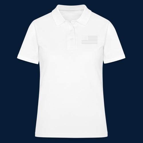 Stars and Stripes White - Frauen Polo Shirt