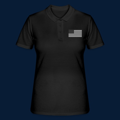 Stars and Stripes White - Frauen Polo Shirt