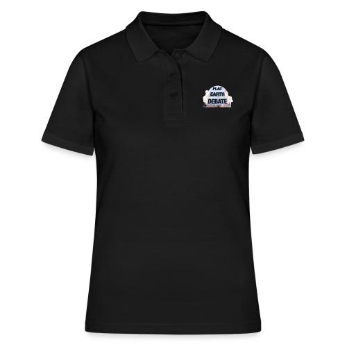 Flat Earth Debate Cartoon - Women's Polo Shirt
