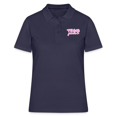 Team pink Gender Reveal Baby Party Shirt Geschenk - Frauen Polo Shirt