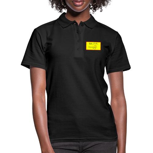 hello, I am the sound girl - yellow sign - Women's Polo Shirt