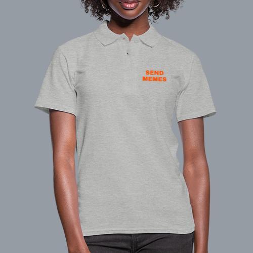 SEND MEMES - Camiseta polo mujer